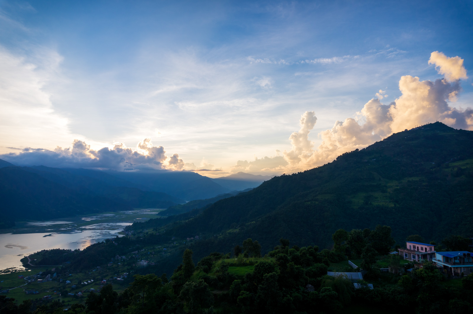 Phewa lake and Sarangkot view