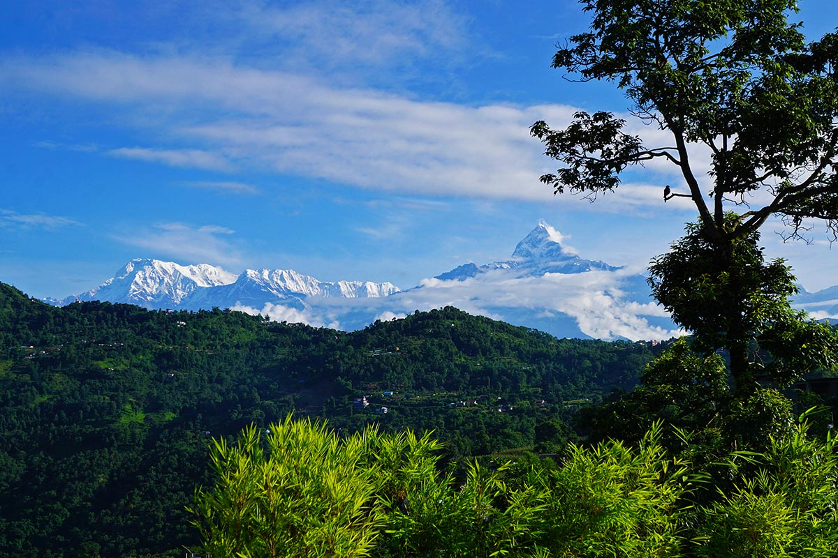 View of Annapurna mountain range